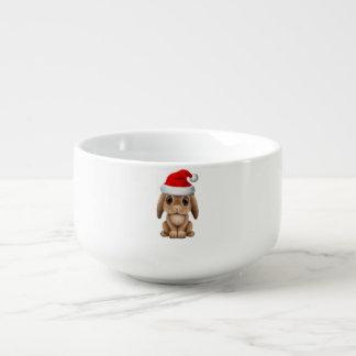 Baby Bunny Wearing a Santa Hat Soup Mug