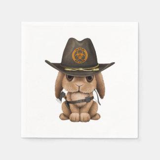 Baby Bunny Zombie Hunter Disposable Napkin