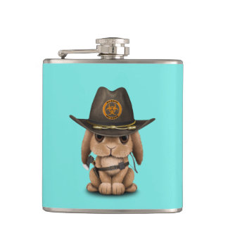 Baby Bunny Zombie Hunter Hip Flask