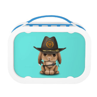 Baby Bunny Zombie Hunter Lunch Box