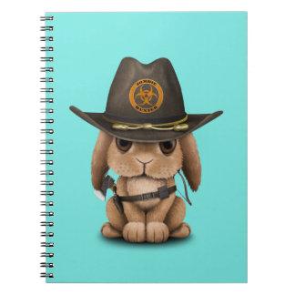 Baby Bunny Zombie Hunter Notebook