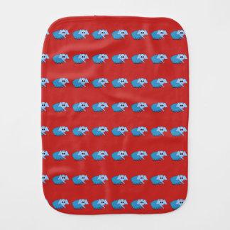 Baby burp cloth with elephant design.