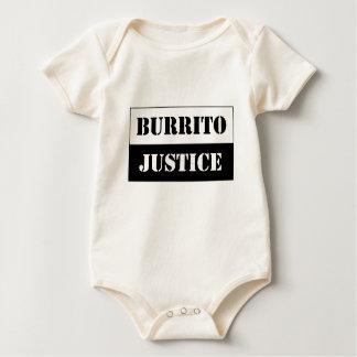 baby burrito justice (black on light background) baby bodysuit