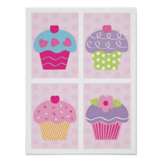 Cupcake posters for Cupcake wall art