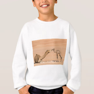 Baby Camel and its Mother Sweatshirt