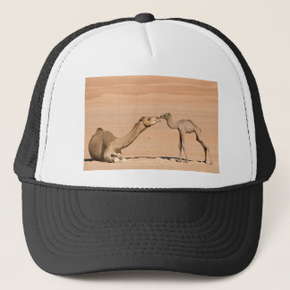 Baby Camel and its Mother Trucker Hat
