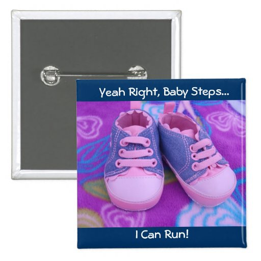 Baby Can Run! buttons Pink Baby's Tennis Shoes