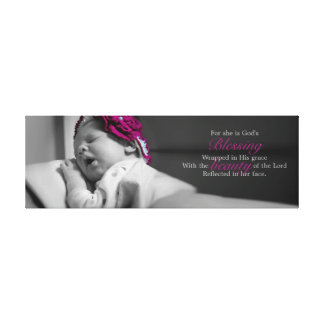 BABY CANVAS GODS BLESSING STRETCHED CANVAS PRINTS