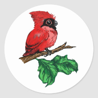 Baby Cardinal Stickers