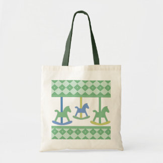Baby Carousel Collection Budget Tote Bag