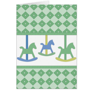 Baby Carousel Collection Greeting Card