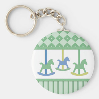 Baby Carousel Collection Basic Round Button Key Ring