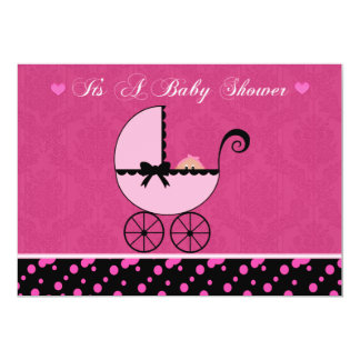 Baby Carriage Baby Shower Invitation