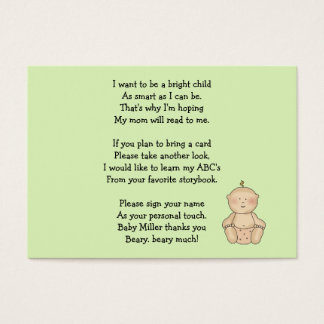 Baby Carriage Tot Alone Business Card