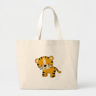 Baby Cartoon Tiger Boy Canvas Bags