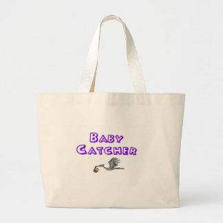 baby catcher large tote bag