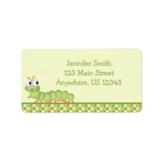 Baby Centipede Address Label