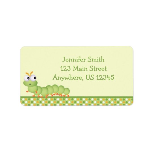 Baby Centipede Address Label