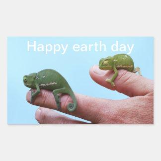 Baby chameleon perspective sticker