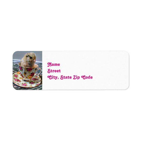 Baby Chick in a Tea Cup Return Address Label
