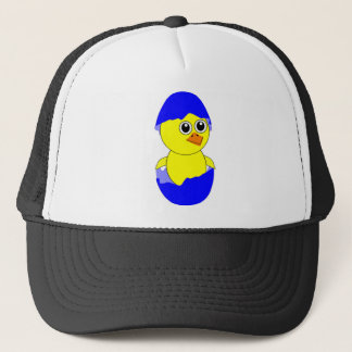 Baby Chick Maternity Baby Boy Blue Trucker Hat