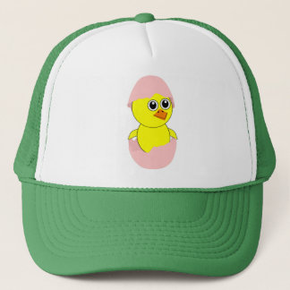 Baby Chick Maternity Girl Pink Trucker Hat