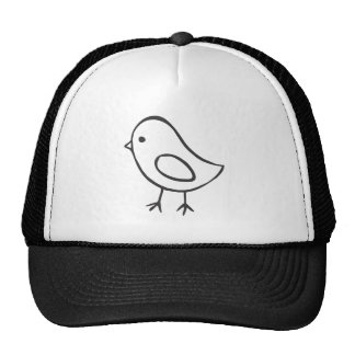 Baby Chicken in Black and White Sketch Cap