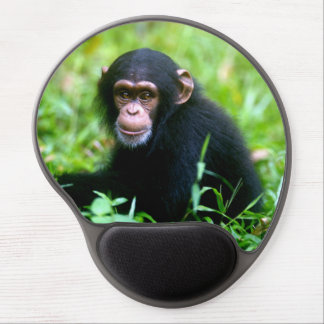 Baby Chimp in Grass Gel Mouse Pads