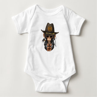 Baby Chimp Zombie Hunter Baby Bodysuit