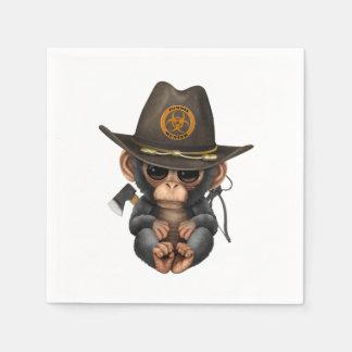 Baby Chimp Zombie Hunter Disposable Napkins