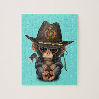 Baby Chimp Zombie Hunter Jigsaw Puzzle
