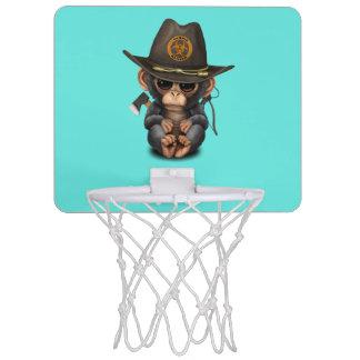 Baby Chimp Zombie Hunter Mini Basketball Hoop