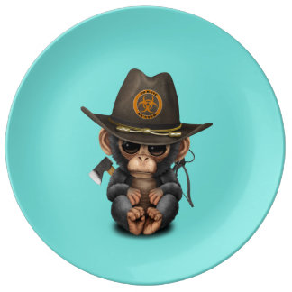 Baby Chimp Zombie Hunter Plate