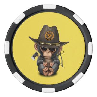 Baby Chimp Zombie Hunter Poker Chips