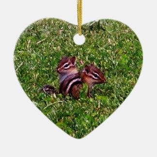 Baby Chipmunks Animal Nature Ornament
