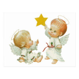 Baby Christmas Angels Postcard