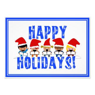 Baby Christmas Carolers - Happy Holidays Invites