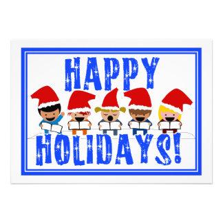Baby Christmas Carolers - Happy Holidays Custom Invite
