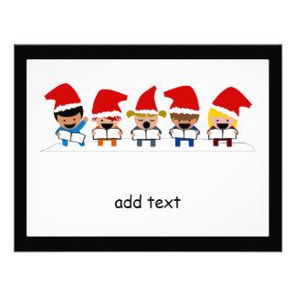 Baby Christmas Carolers Invitations