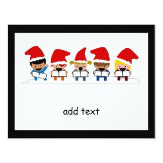 Baby Christmas Carolers 11 Cm X 14 Cm Invitation Card