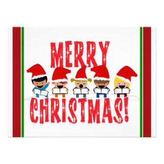 Baby Christmas Carolers - Merry Christmas Custom Invite