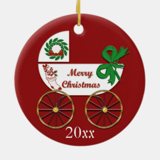 Baby Christmas ornament carriage