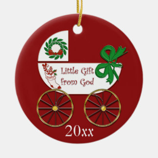 Baby Christmas ornament Little Gift from God
