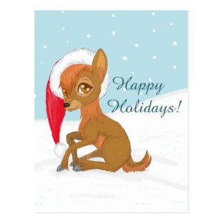 Baby Christmas Reindeer Postcard
