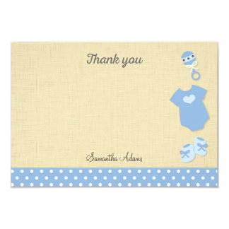 "Baby Clothes Baby Shower Thank You Card 3.5"" X 5"" Invitation Card"