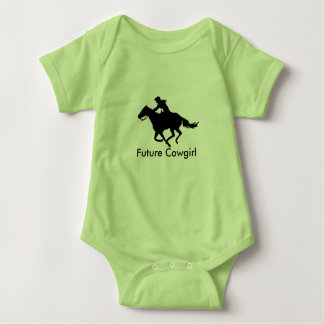 Baby Clothes Future Cowgirl Western Barrel Racer Baby Bodysuit