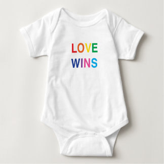 Baby Clothes, Love Wins in Rainbow Colors Baby Bodysuit
