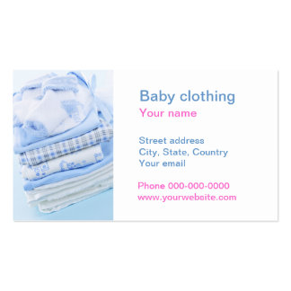 Baby  clothing business card template