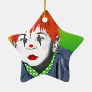 Baby Clown Ceramic Star Decoration