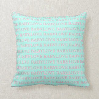 BABY & CO Baby Love Pink & Mint Pillow